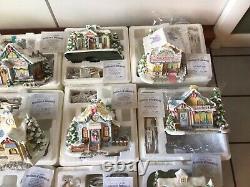 12 HAWTHORNE VILLAGE 2001-02 ENESCO PRECIOUS MOMENTS CHRISTMAS VILLAGE COAs BOX