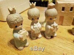 15 Piece Precious Moments Nativity Scene 1982