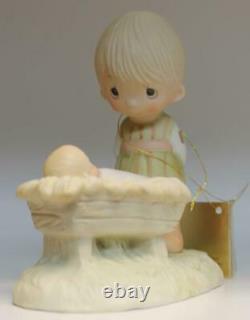 1978 Precious Moments Come Let Us Adore Him E-2011 Original 21 Boy /Manger Baby