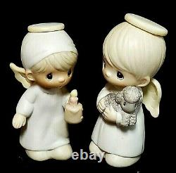 1982 Precious Moments Miniature Nativity Come Let Us Adore Him 18 Pieces