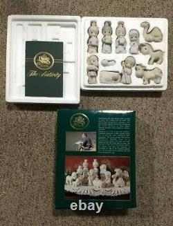 1982 Precious Moments The Nativity 11 Piece Set Come Let Us Adore Him By Enesco