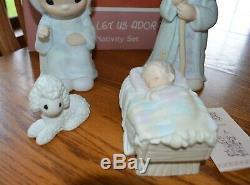 1987 Precious Moments LARGE 9 Nativity Boxed Set