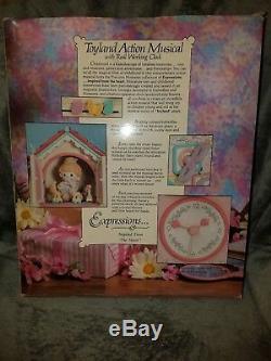 1991 Enesco Precious Moments Toyland Illuminated Musical Action Clock Brand NEW