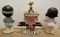 1999 RARE JAPANESE EXCLUSIVE PRECIOUS MOMENTS EVERYONE HAS A PART 3pc Set/no box