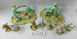 2003 ADORABLE Precious Moments Wizard Of Oz 11 Figures & 2 Platforms (CI)
