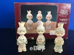22 Piece Precious Moments Miniature Pewter Nativity- Original Boxes