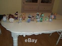 Ashton Drake Galleries Precious Moments Wizard of Oz Dolls with Stands