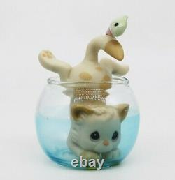 BNIB Precious Moments CATCH YA LATER, 358959 (Cat in a Fish Bowl) RARE