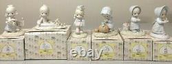 COMPLETE January-December 12 Months Calendar Girls Box Precious Moments Figurine