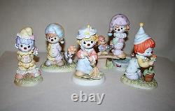 Complete Set Of 5 Precious Moments Clown Series Figurines Love Is On Its Way