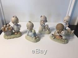 Complete Set Precious Moments Retired Original 21 + God Loveth a Cheerful Giver
