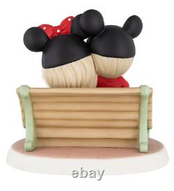 Disney Parks Mouseketeers on Park Bench Figure by Precious Moments New in Box