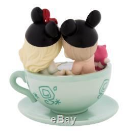 Disney Parks Precious Moments Boy Girl Tea Cups Figurine New
