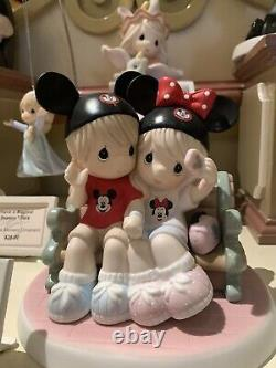 Disney Parks Precious Moments Figurine Making Memories Mouseketeer On Park Bench