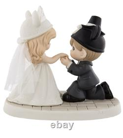Disney Parks Precious Moments Girl & Boy Bride and Groom Figurie New in Box