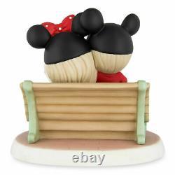 Disney Parks Precious Moments Main Street USA Making Memories Bench Figurine New
