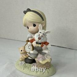 Disney Precious Moments Alice In Wonderland White Rabbit Figurine 730011 5