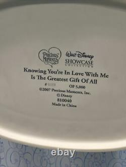 Disney Precious Moments Cinderella Prince Charming Mistletoe NIB LE #89 /5000