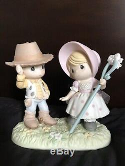 Disney Toy Story Precious Moments Little Bo Peep & Woody Howdy Ma'am Figurine