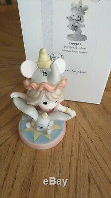 Don't Just Fly. Soar! Dumbo Precious Moments Disney Signed by Hiko Maeda