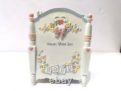 Enesco 1993 Precious Moments Expressions Heaven Bless You Action Musical Crib