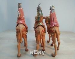 Fontanini Nativity 3 Wise Men Deposs Italy 10 figures