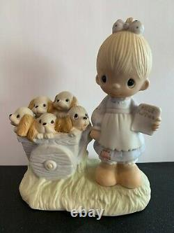 God Loveth A Cheerful Giver-precious Moments Figurine- Repaired/ No Mark