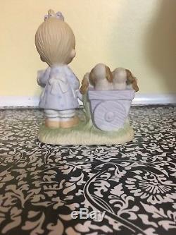God Loveth A Cheerful Giver rare Precious Moment Figurine. Jonathan and David