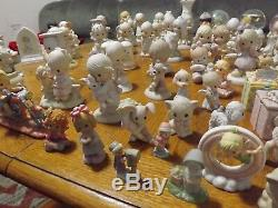 HUGE LOT of Precious moments figures snowglobes over 75 pieces included