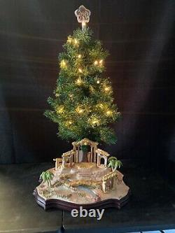 Hawthorne Village Precious Moments Nativity Christmas Tree Scene RARE NEW