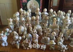 Huge lot of around 110 Precious Moments figurines. Excellent condition. No boxes