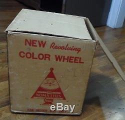 IOB Vintage Noma Revolving Color Wheel Christmas Tree Rotating Light Movie Prop