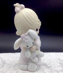 Large 9 Precious Moments Jesus Loves Me #/1000 Limited Edition Girl Figurine