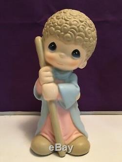 Large PRECIOUS MOMENTS Nativity Statuary Set / Rare Free Shipping