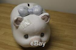 Large Precious Moments Piggy Bank #135569 1994 Original With Box Enesco Rare