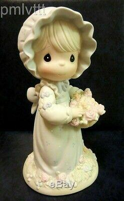 Limited 2000 Large 9 Inch Precious Moments You Are The Rose Of His Creation