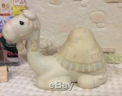 Lot Of 3 Vntg Precious Moments Porcelain Nativity Accesories Wall Camel Tree Etc