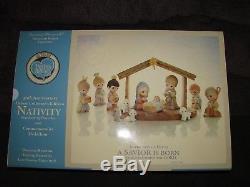 NEW Precious Moments 30th Anniversary Deluxe Nativity A Savior is Born 13 Pieces