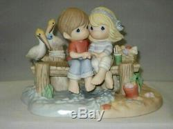 NEW Precious Moments Limited Ed. 3000 Couple On Dock Our Love Is A Shore Thing