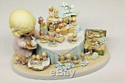 NIB PRECIOUS MOMENTS FROM THE BEGINNING 110238 LE 25th Anniversary signed Gene