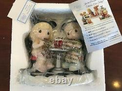 NIB Precious Moments Mickey & Minnie Mouse It's A Treat Being With You 159058