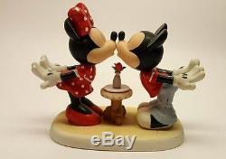 New Disney Precious Moments Figurine Mickey/minnie Love At First ...