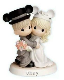 New PRECIOUS MOMENTS Disney MICKEY WEDDING Figurine Statue CAKE TOPPER Couple