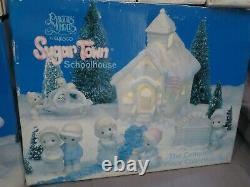 New Precious Moments Complete 6 Piece Christmas Set Sugar Town Schoolhouse