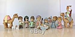 New Very Rare Precious Moments The Holy Family and Nativity Figurine Set compl