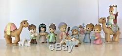 New Very Rare Precious Moments The Holy Family and Nativity Figurine Set compl