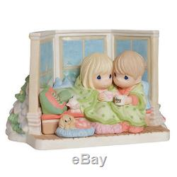 PRECIOUS MOMENTS Figurine COZY WARM SOFA LOVE DOG WINTER Ltd Edition PORCELAIN