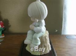 PRECIOUS MOMENTS LOVE ONE ANOTHER LARGE 9 FIGURE # 822426 RARE MINT withdisplay