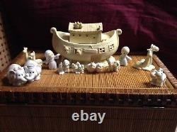 PRECIOUS MOMENTS NOAHS ARK TWO 2 BY 2 LOT 11 PIECE SET 2 x 2 COLLECTIBLE BOXES