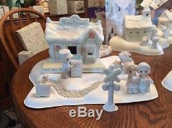 PRECIOUS MOMENTS SUGAR TOWN SEVEN COMPLETE SETS & 24 add on pieces & 4 ornaments